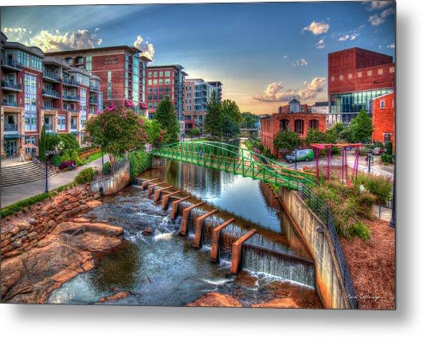 Just Before Sunset 2 Reedy River Falls Park Greenville South Carolina Art Metal Print