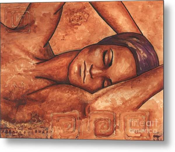 Just Lay Back And Relax And . . .  Metal Print