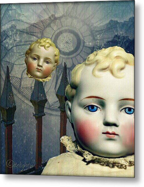 Metal Print featuring the digital art Just Like A Doll by Delight Worthyn