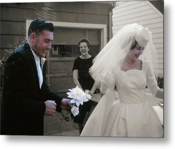 Just Married Metal Print by JAMART Photography