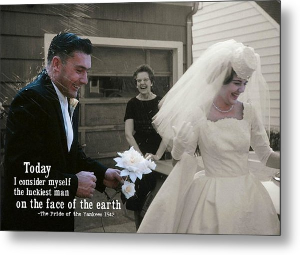 Just Married Today Quote Metal Print by JAMART Photography