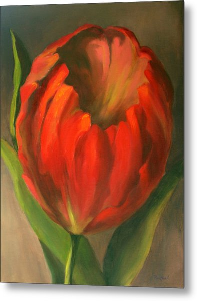 Just One Red Tulip Metal Print
