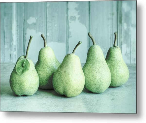 Just Pears Metal Print
