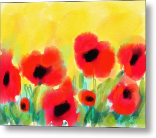 Metal Print featuring the digital art Just Poppies by Cristina Stefan