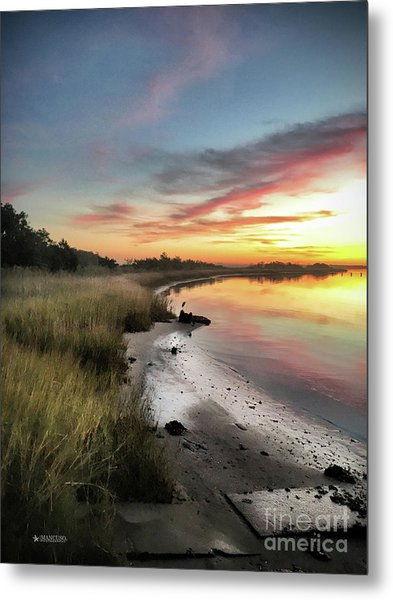 Just The Two Of Us At Sunset Metal Print