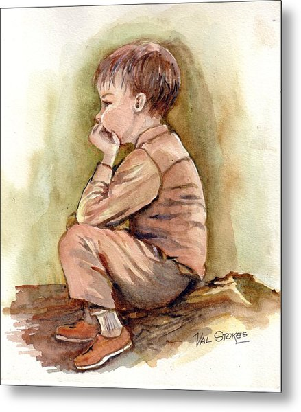 Just Thinking.. Metal Print by Val Stokes