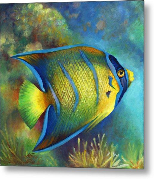 Juvenile Queen Angel Fish Metal Print