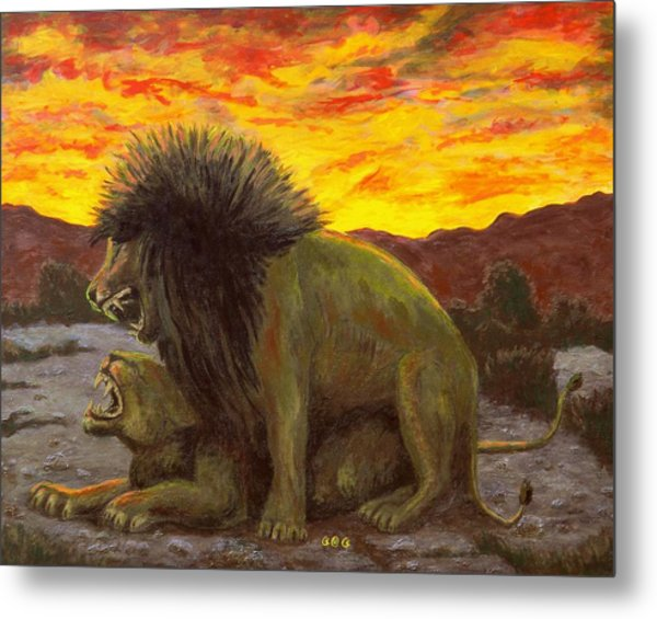 Kalahari Sunset Metal Print
