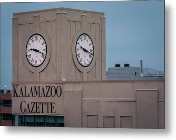 Kalamazoo Gazette Clock Tower Metal Print