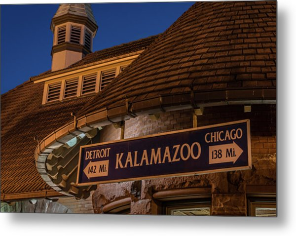 Kalamazoo Transportation Center Metal Print