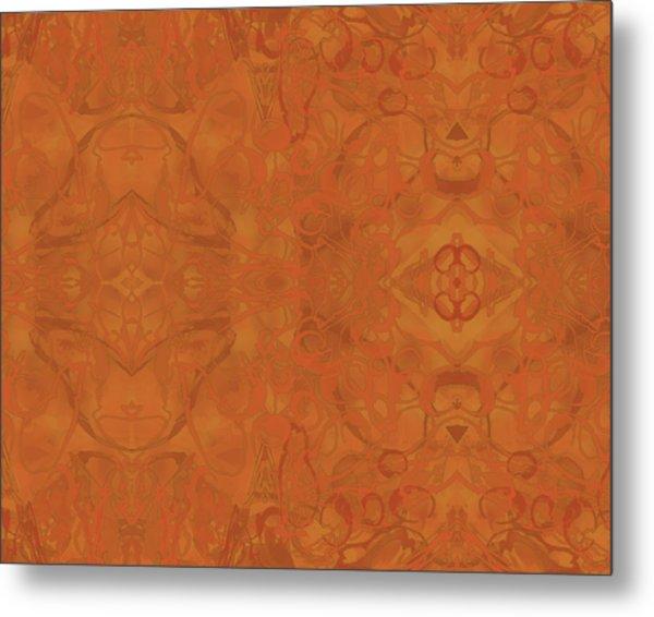 Kaleid Abstract Moroccan Metal Print
