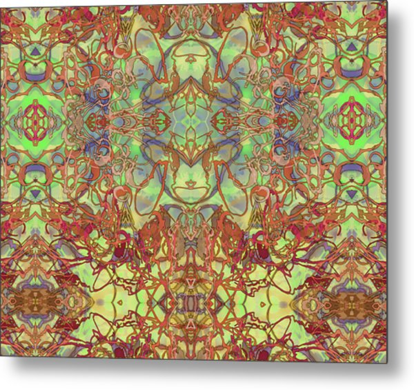 Kaleid Abstract Tapestry Metal Print