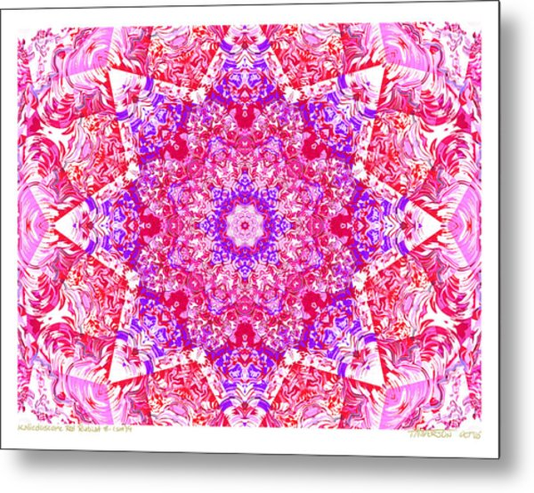 Kaleido Red Rubi 8 Metal Print by Terry Anderson