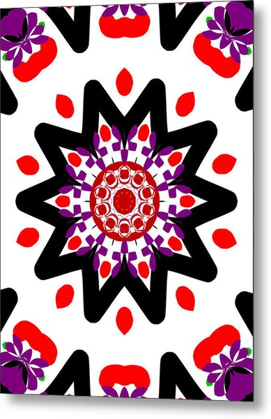 'alien Head' Kaleidoscope Metal Print