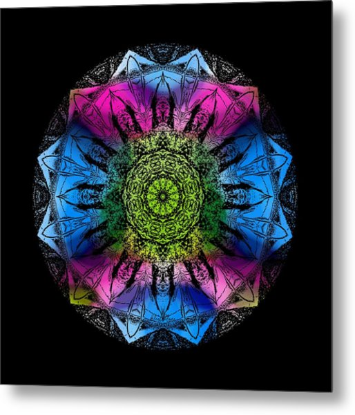 Kaleidoscope - Colorful Metal Print