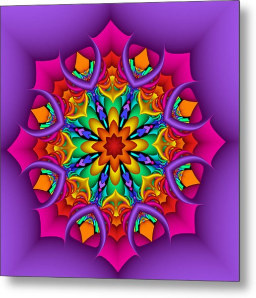 Kaleidoscope Flower 01 Metal Print