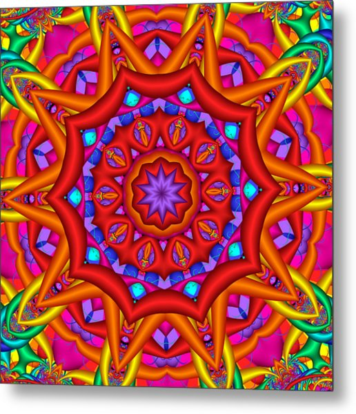 Kaleidoscope Flower 02 Metal Print