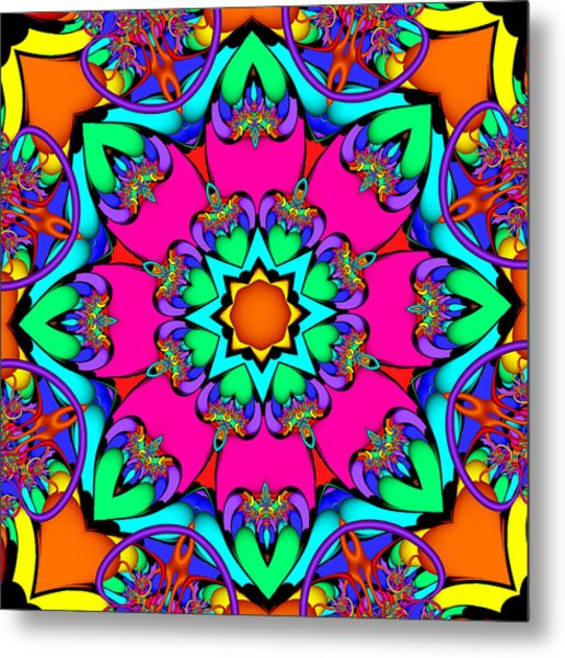 Kaleidoscope Flower 03 Metal Print