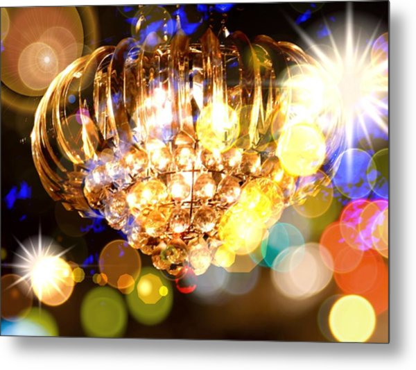Kaleidoscope Of Light Metal Print