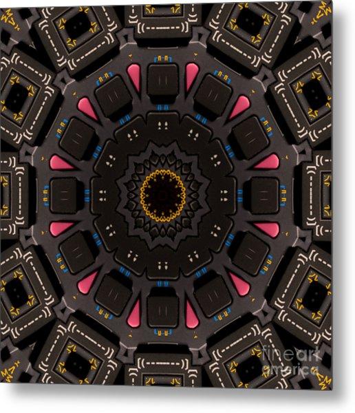 Kaleidoscopic Calculator Metal Print by Rolf Bertram