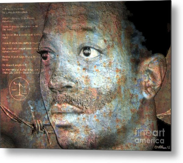 Kalief Browder - A Young Martyr Metal Print