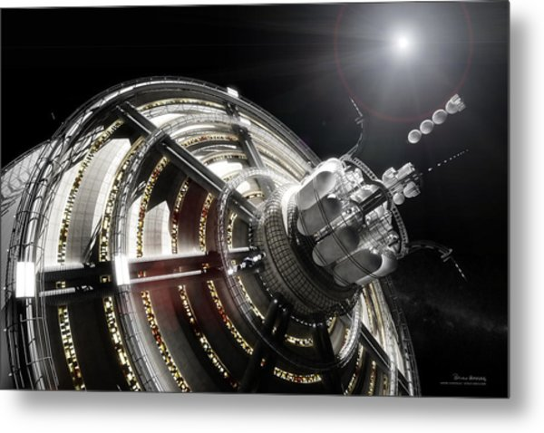 Metal Print featuring the digital art Kalpana One Port by Bryan Versteeg