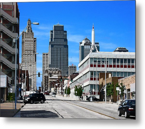 Kansas City Cross Roads Metal Print