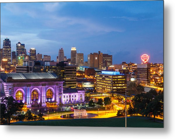 Kansas City Night Sky Metal Print