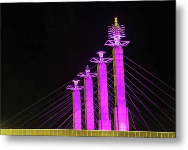 Kansas City Pylons In Pink Metal Print
