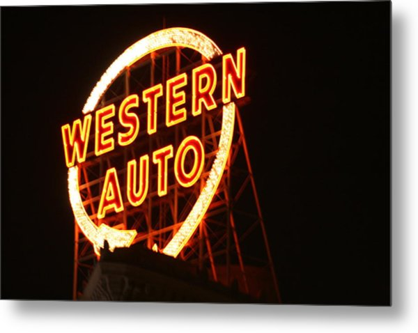 Kansas City Western Auto Metal Print