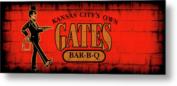 Kansas City's Own Gates Bar-b-q Metal Print