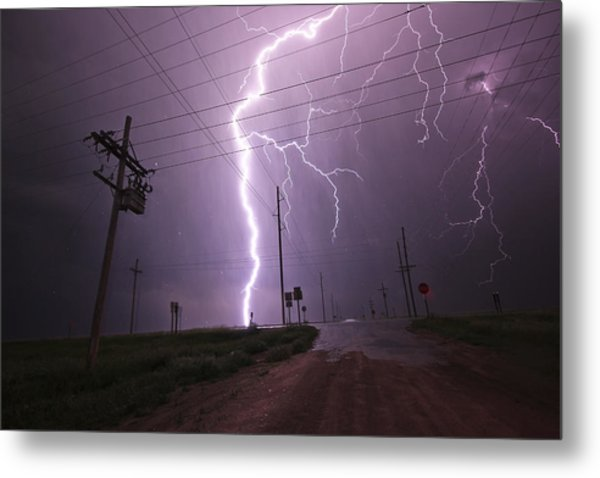 Kansas Lightning Metal Print