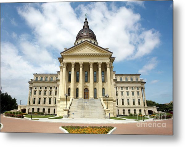 Metal Print featuring the photograph Kansas State Capitol Building by Steven Frame