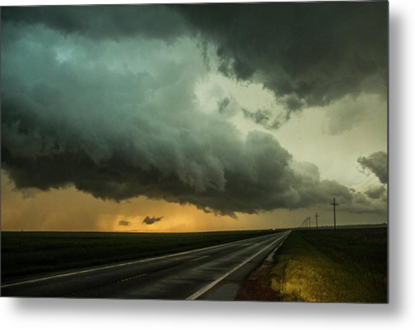 Metal Print featuring the photograph Kansas Storm Chase Bust Day 004 by NebraskaSC