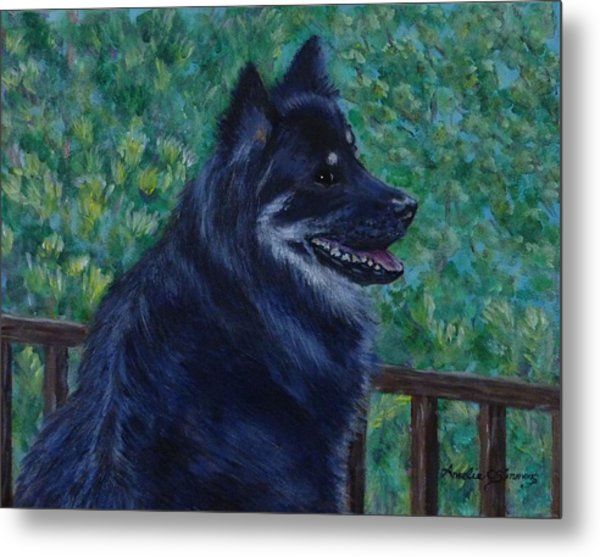 Metal Print featuring the painting Kapu by Amelie Simmons