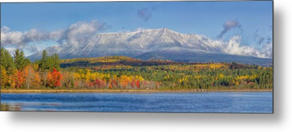 Katahdin In Fall Metal Print