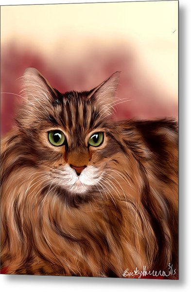 Katie- Custom Cat Portrait Metal Print