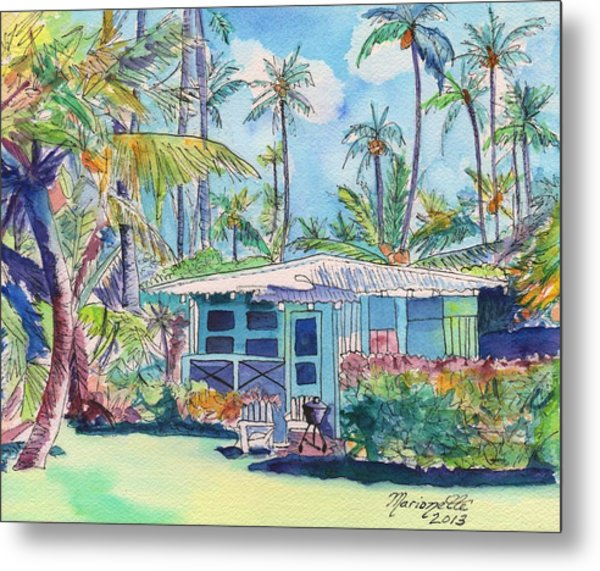 Kauai Blue Cottage 2 Metal Print
