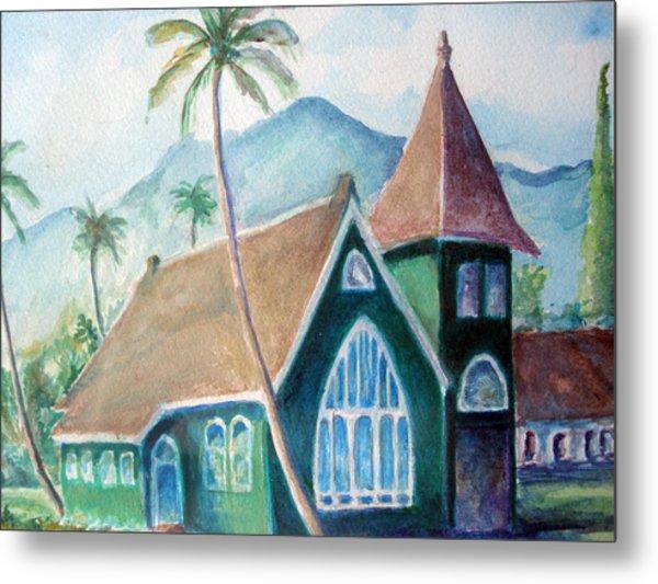 Kauai Church Metal Print by Mike Segura