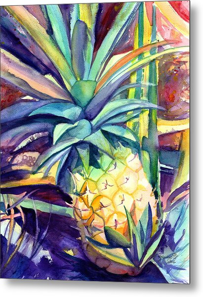 Kauai Pineapple 4 Metal Print