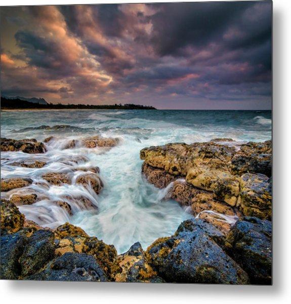 Kauai Ocean Rush Metal Print