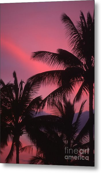 Kauai Sunset 2 Metal Print by Stan and Anne Foster
