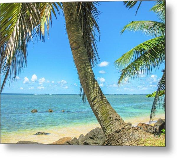 Kauai Tropical Beach Metal Print