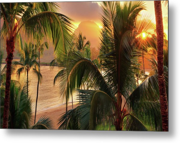 Olena Art Kauai Tropical Island View Metal Print