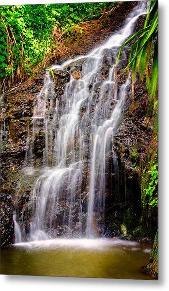 Kauai Water Cascade Metal Print