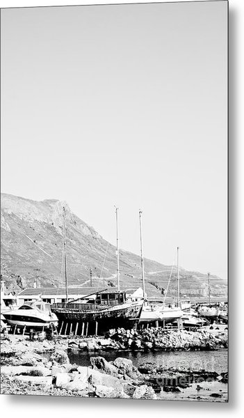 Kavonisi Harbour Metal Print by Gabriela Insuratelu