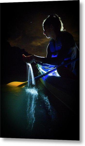 Kayak In The Biobay Metal Print by Karl Alexander
