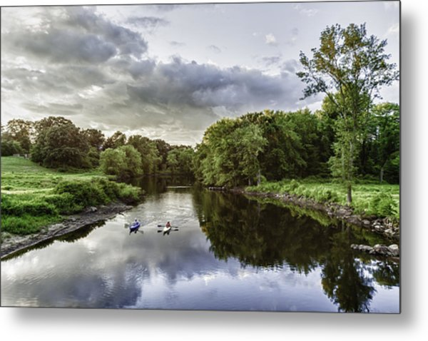 Kayakers Metal Print by Kate Hannon