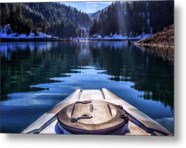 Kayaking In Mccloud Metal Print