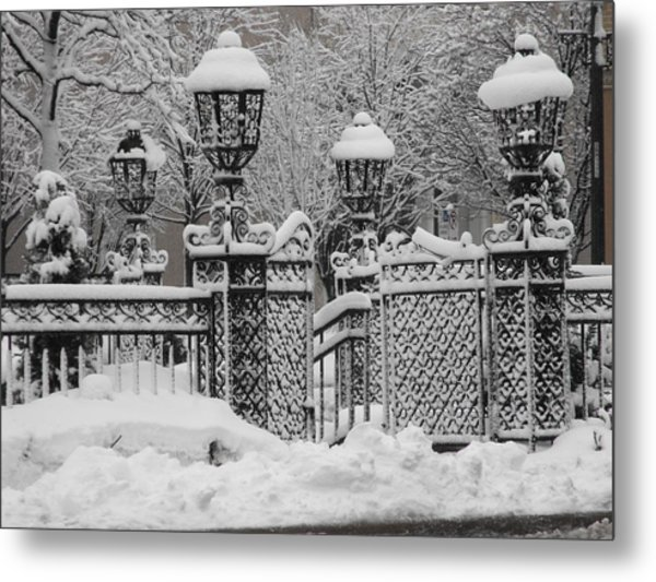 Kc Plaza Is Art In The Snow Metal Print